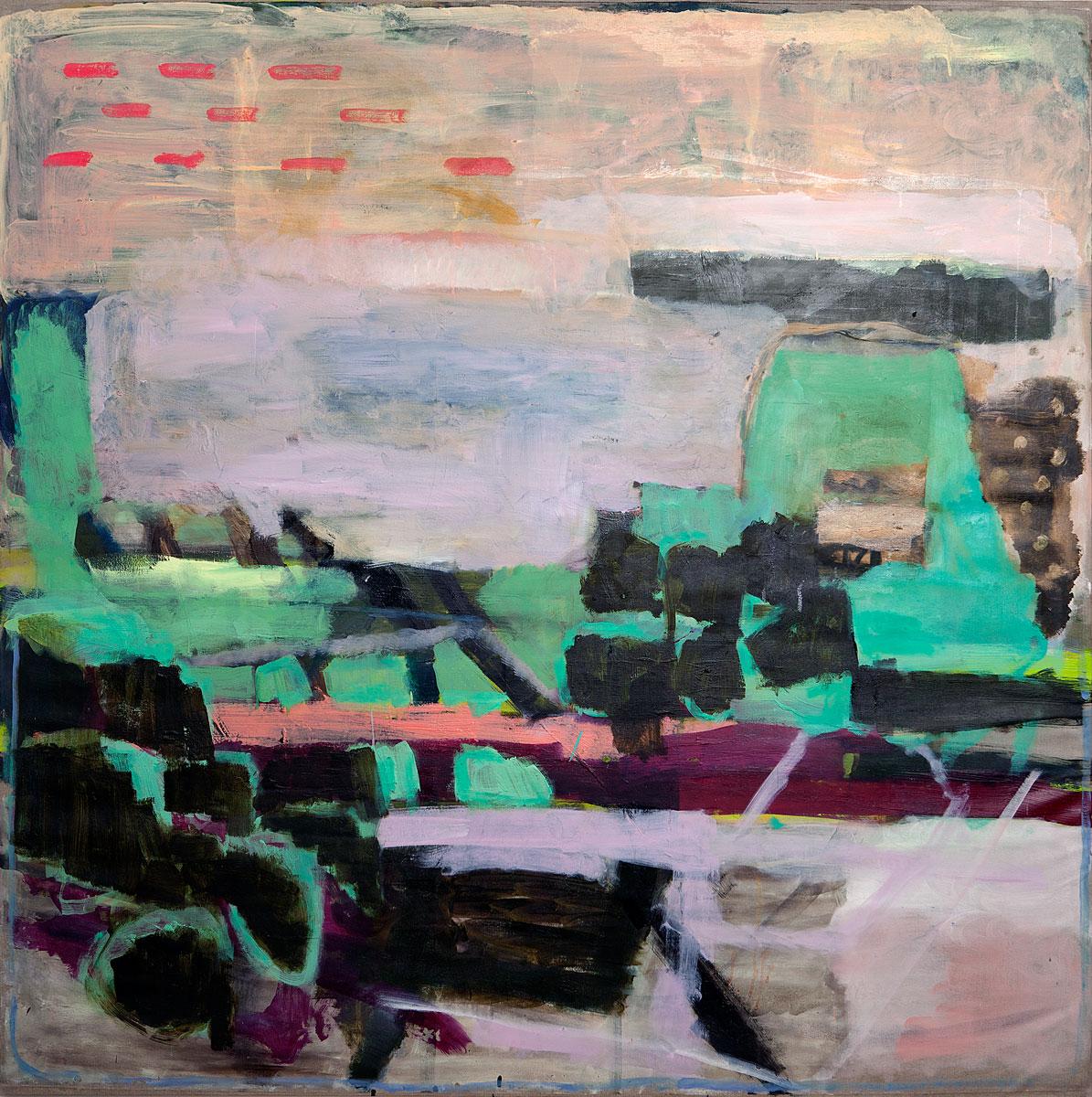 Gooseberry Gardens | oil on canvas | 152 x 152cm | 2013