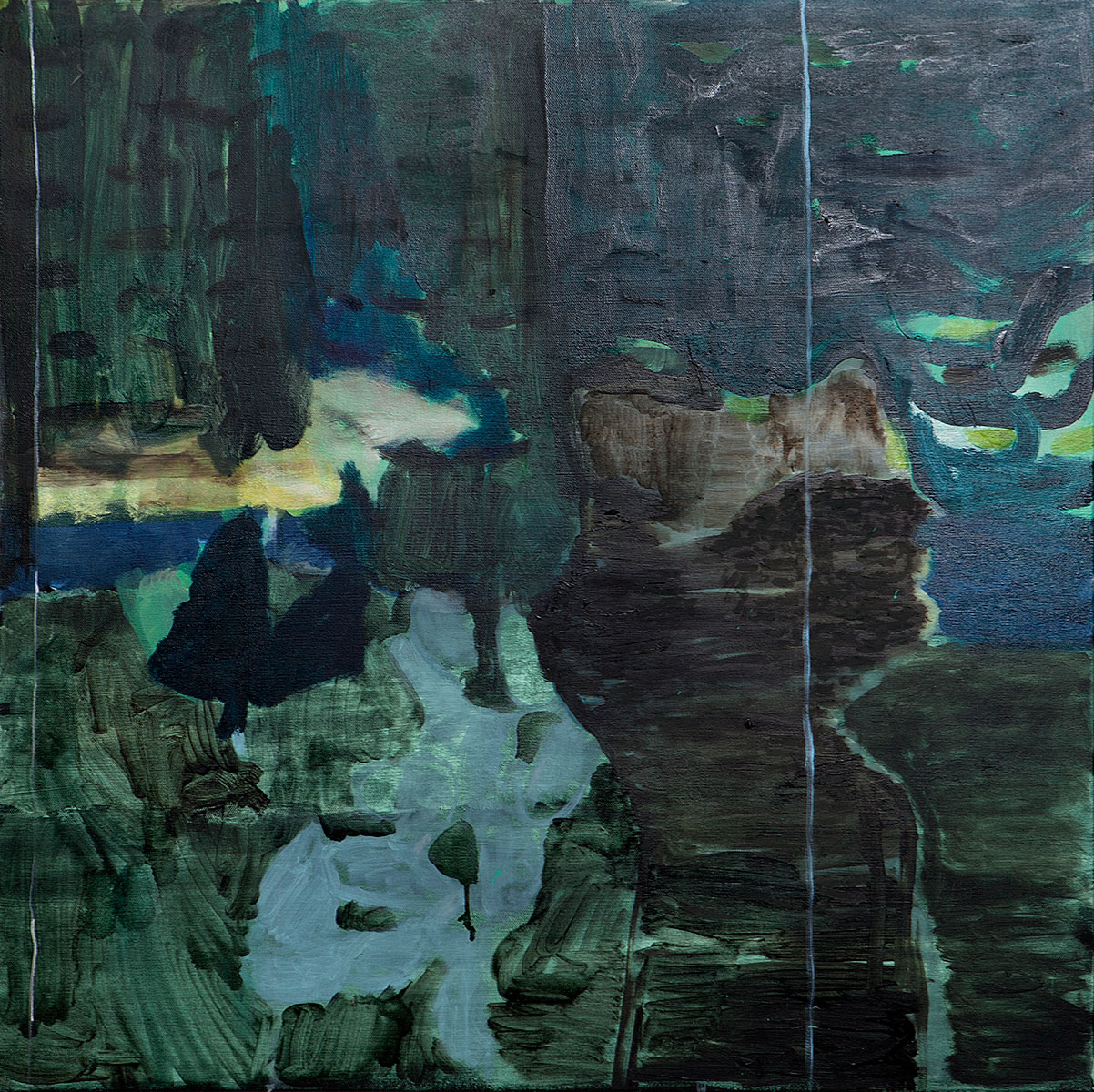 Glass Cabin | oil on canvas | 80 x 80cm | 2014