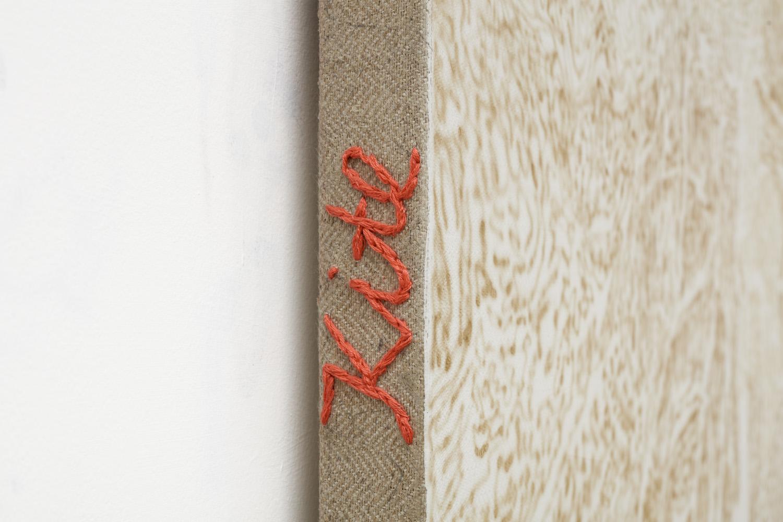 Kite Fungus Sznycel in Soviet Era (detail) | acrylic and cotton needlework on linen | 2018